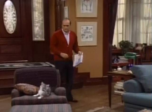Bob - Terminate Her - Bob Newhart enters house to see cat Otto on chair
