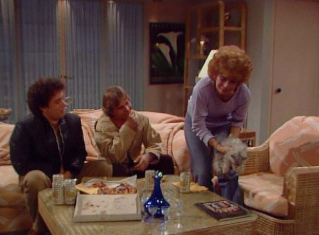 Bosom Buddies - Only the Lonely - Ruth Holland Taylor setting down long-haired silver kitten