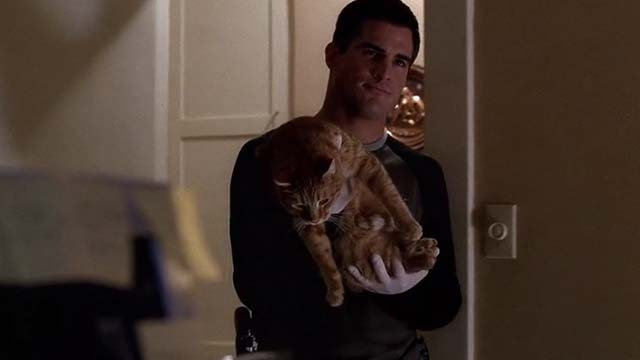 CSI: Crime Scene Investigation - $35K O.B.O. - Nick George Eads bringing orange tabby cat into room