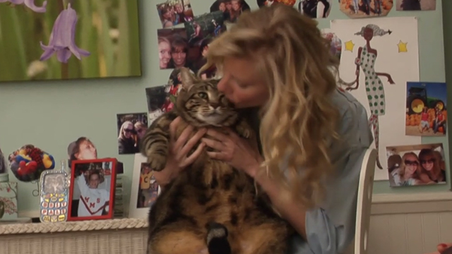 Glee - Rumours - Brittany Heather Morris holding large tabby cat Lord Tubbington Aragon