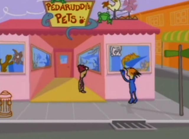 Home Movies - Brendon Gets Rabies - Brendon and Melissa looking at cats in pet shop window