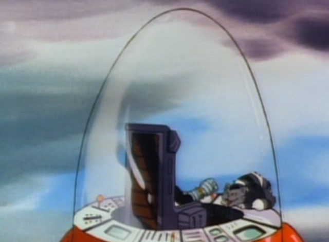 Inspector Gadget - Gadget in Winterland - M.A.D. Cat and Dr. Claw escaping in rocket