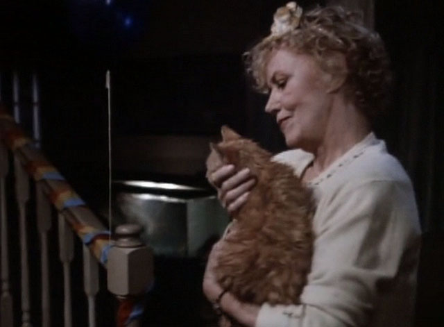 Tales From the Crypt - Collection Completed - Anita Audra Lindley holding orange tabby cat Mew Mew