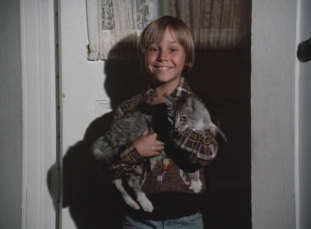 The Waltons - The Fastidious Wife Jeffrey smiling with cat Harold