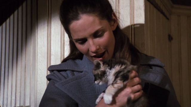 The Waltons - The Loss - Cousin Olivia Deborah White holding calico kitten