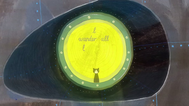 All Dead, All Dead - tuxedo cat looking out of round window