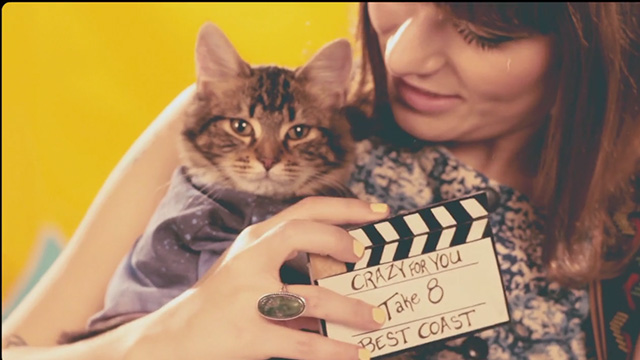 Best Coast - Crazy for You - Bethany Cosentino with tabby cat and clapboard