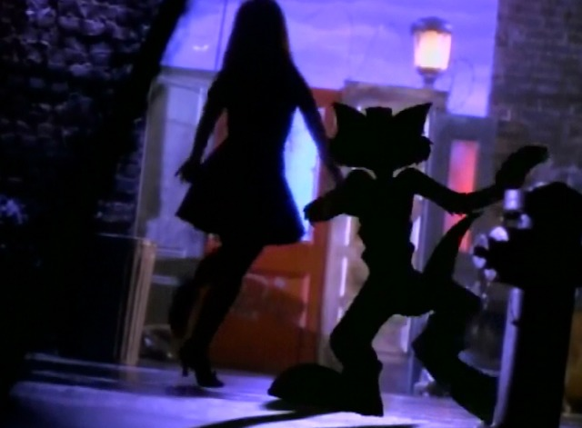 Opposites Attract - Paula Abdul and MC Skat Kat in silhouette
