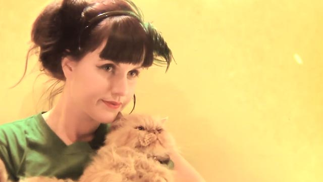Yulia - Princess Chelsea - with orange Persian cat Winston